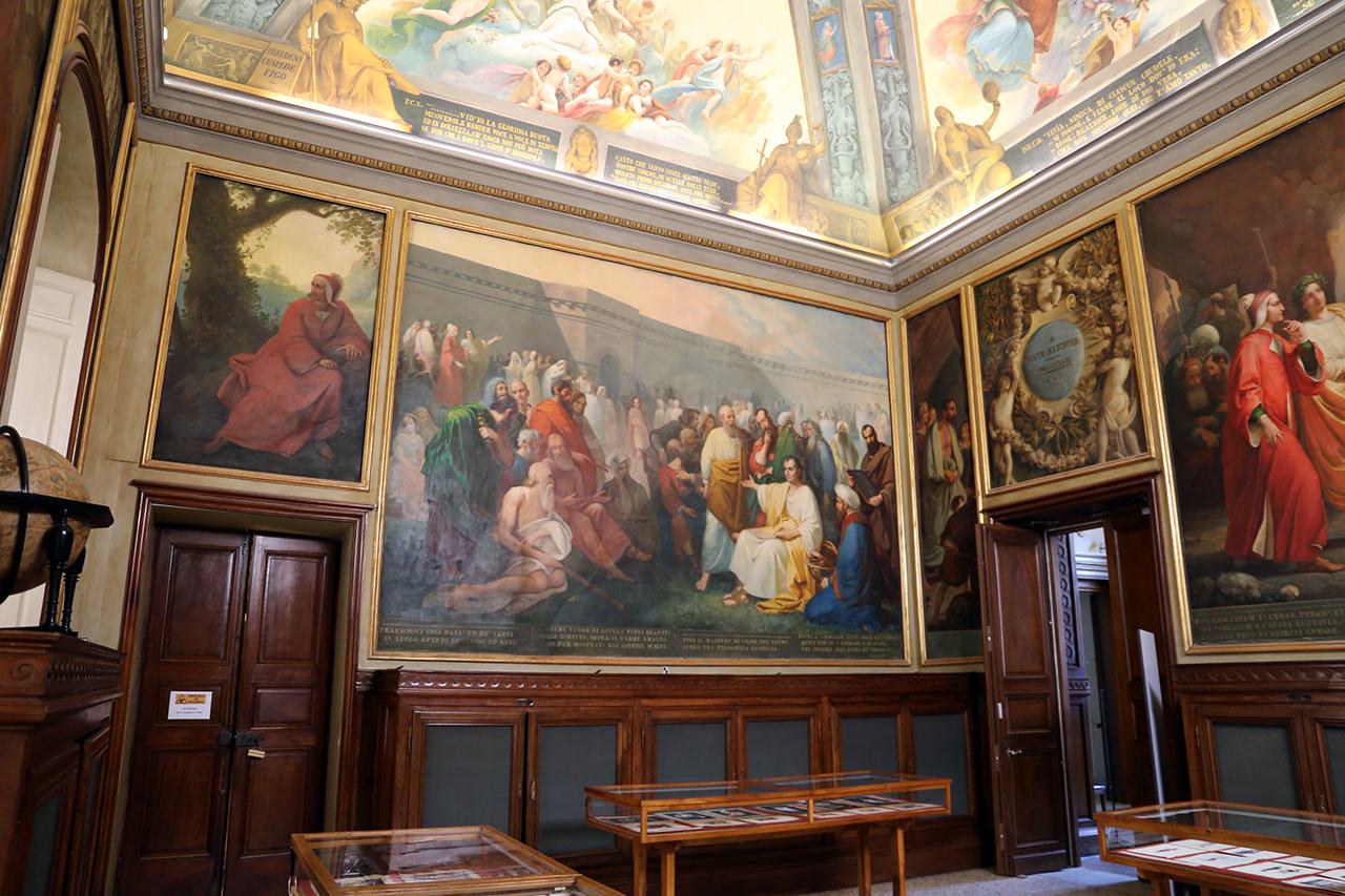 La Sala Dante della Biblioteca Palatina