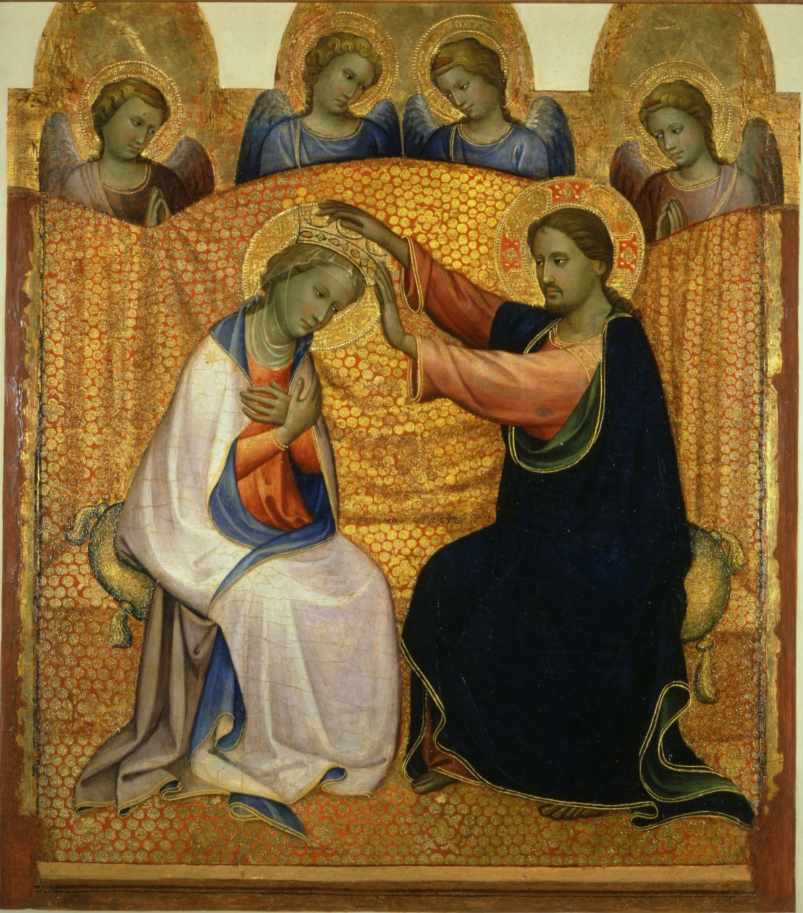 Incoronazione della Vergine e angeli