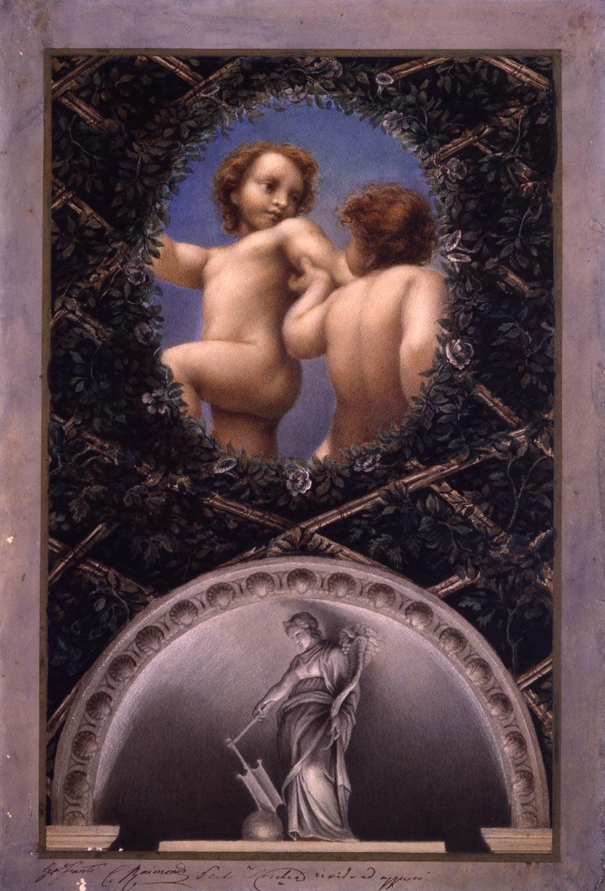 immagine per Ovato con Due putti; lunetta con la Fortuna (da Correggio)