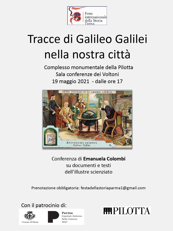 immagine per Tracce di Galileo Galilei nella nostra città, Locandina