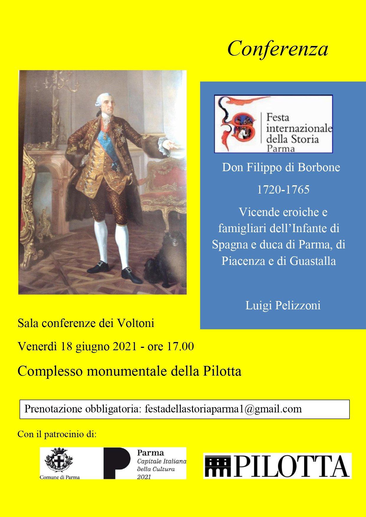 immagineper Festa Internazionale della Storia di Parma: conferenza di Luigi Pelizzoni, locandina