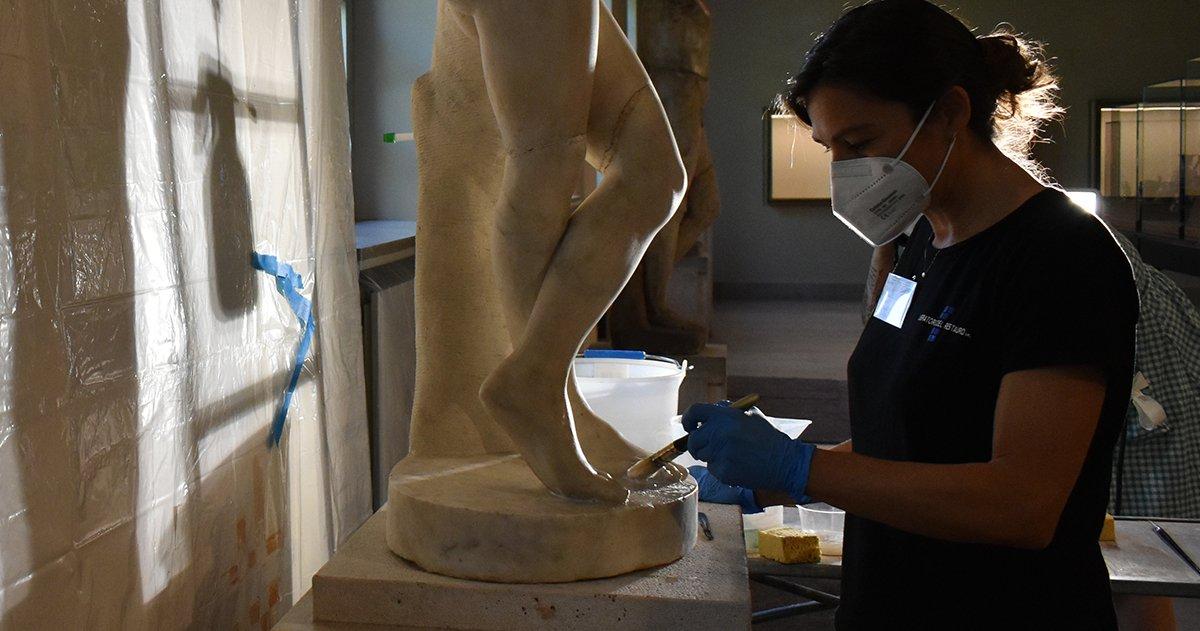 immagine per Il restauro delle statue e dei leoni di età romana del Museo Archeologico Nazionale